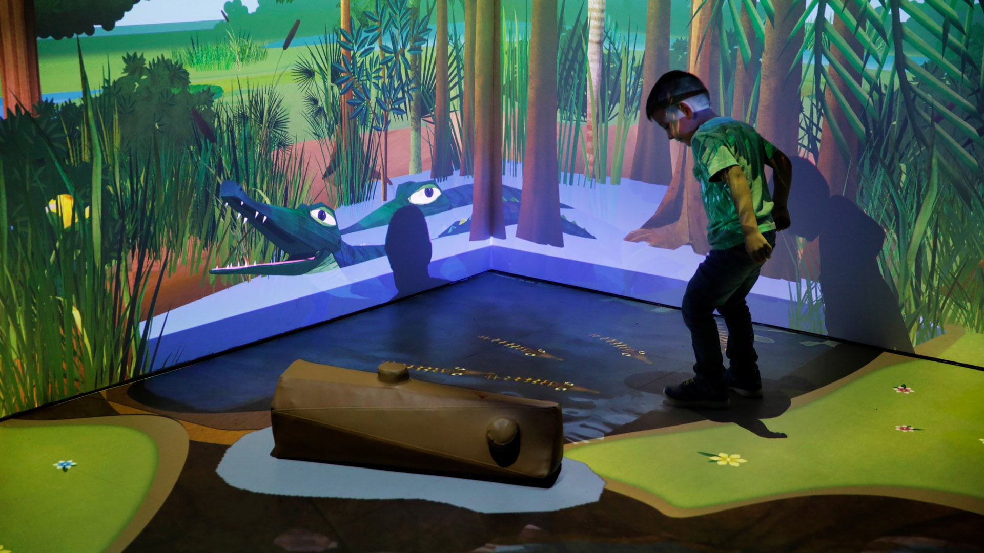 River Of Grass Interactive Wall And Floor Projection